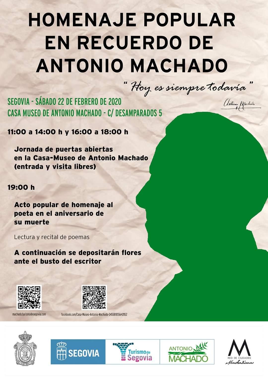 Homenaje popular en recuerdo de Antonio Machado